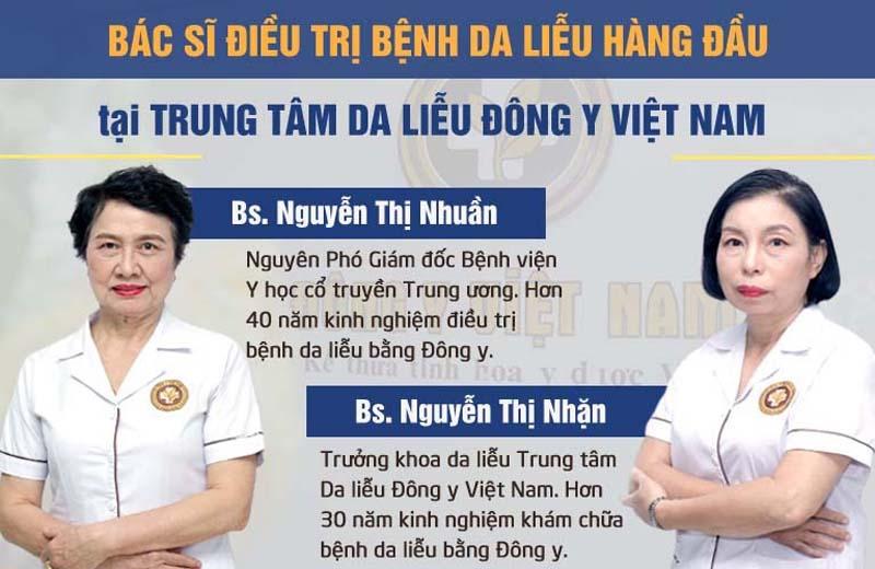 Đội ngũ bác sĩ da liễu giỏi của Trung tâm Da liễu Đông y Việt Nam