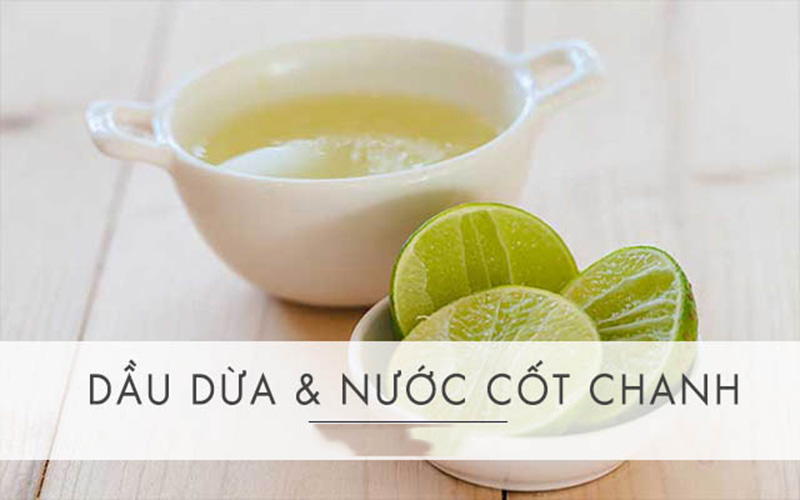 Kết hợp dầu dừa và nước cốt chanh