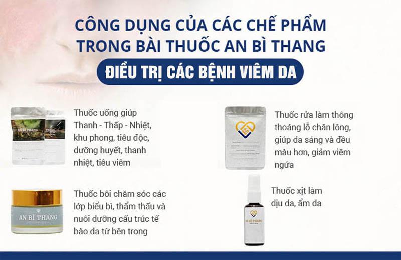 Bốn chế phẩm đặc biệt điều trị dị ứng da mặt của bài thuốc An Bì Thang