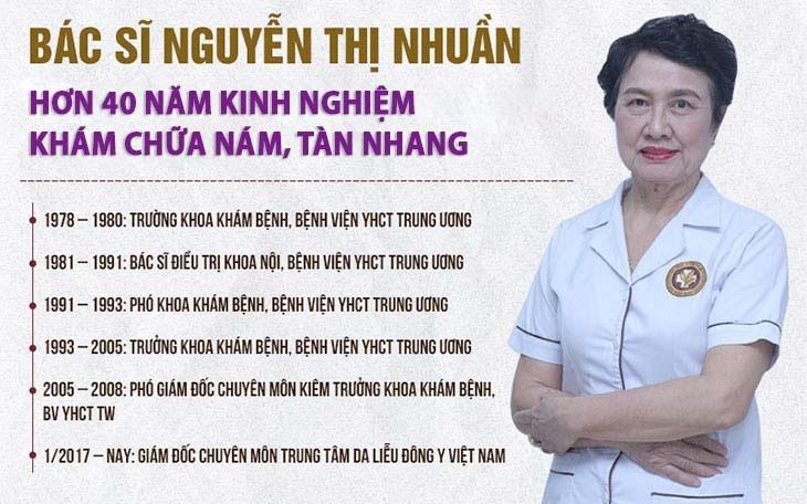 Bác sĩ Nguyễn Thị Nhuần-Chuyên gia 40 năm trong điều trị nám, tàn nhang bằng Đông y