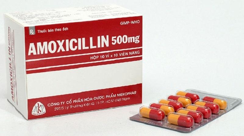 Amoxicillin là thuốc kháng sinh thường dùng trong điều trị viêm họng