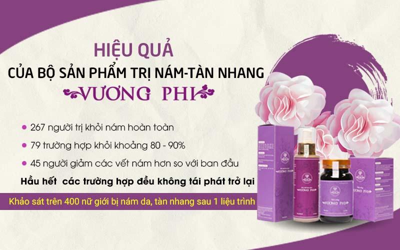 Hiệu quả của Bộ sản phẩm Nám - Tàn nhang Vương Phi