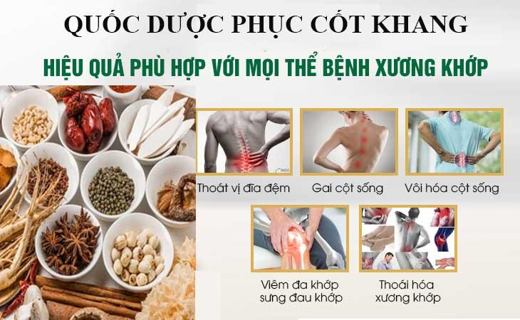 Bài thuốc Quốc dược Phục cốt khang hiệu quả với mọi bệnh lý xương khớp
