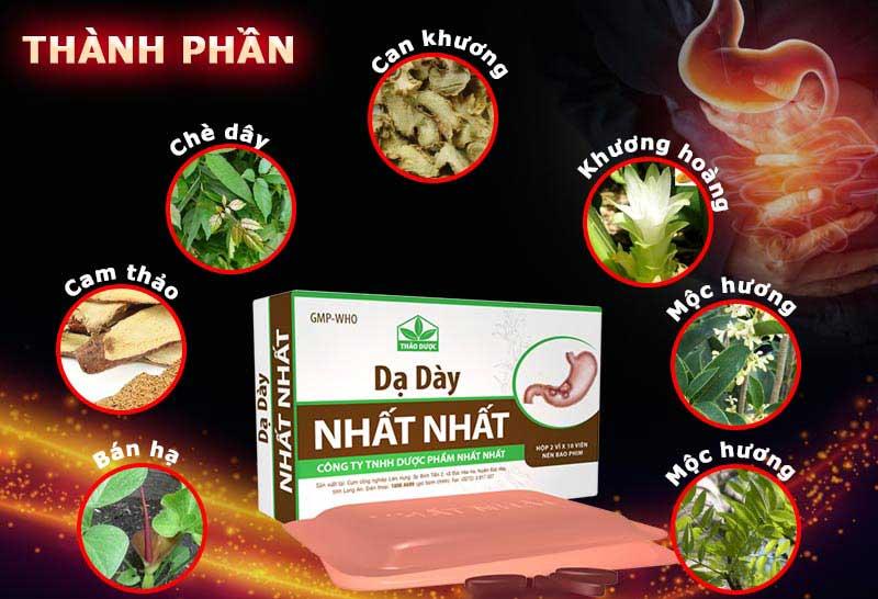 Thuốc dạ dày Nhất Nhất được nghiên cứu và sản xuất tại Việt Nam