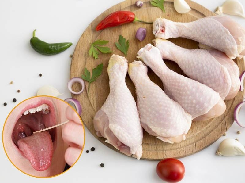 Trong thịt gà chứa nhiều dưỡng chất tốt cho cơ thể tốt cho việc điều trị viêm amidan