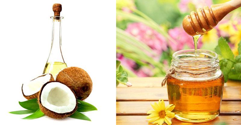 Mật ong và dầu dừa đều có đặc tính chống viêm và kháng khuẩn