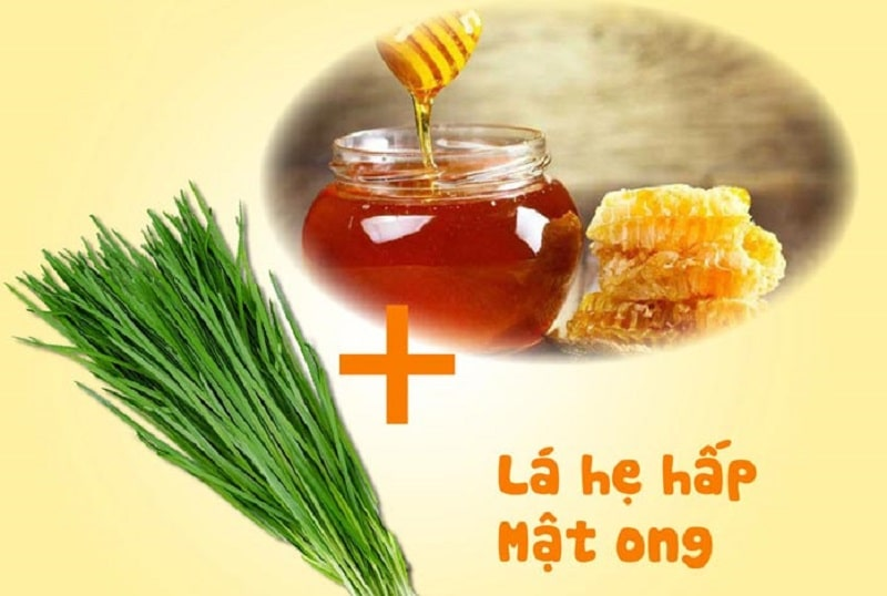 Lá hẹ hấp mật ong giúp điều trị viêm amidan hốc mủ