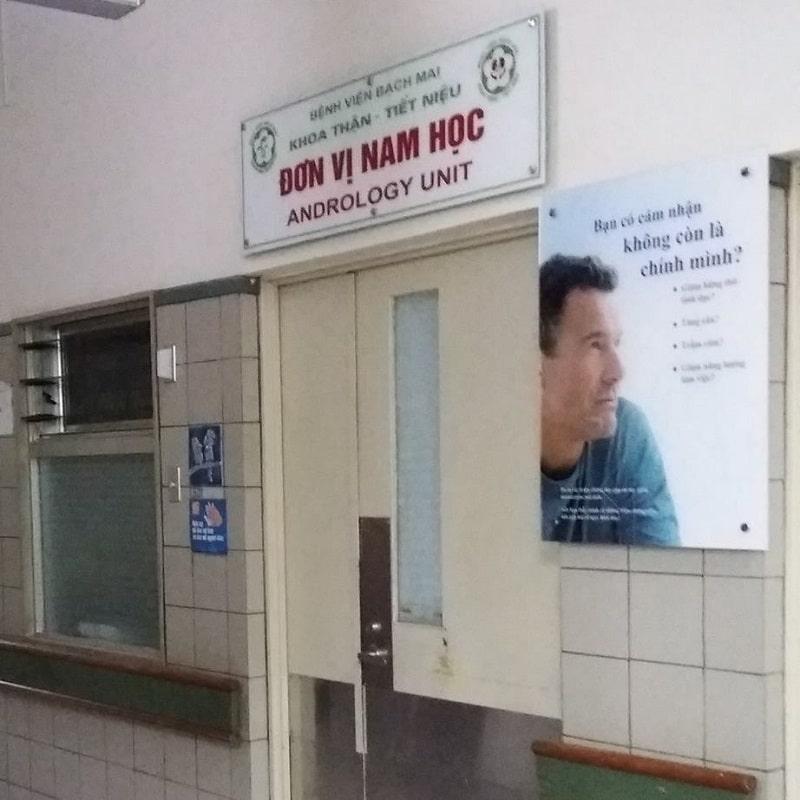 Phòng khám Nam học - Bệnh viện Bạch Mai cũng là địa chỉ có uy tín