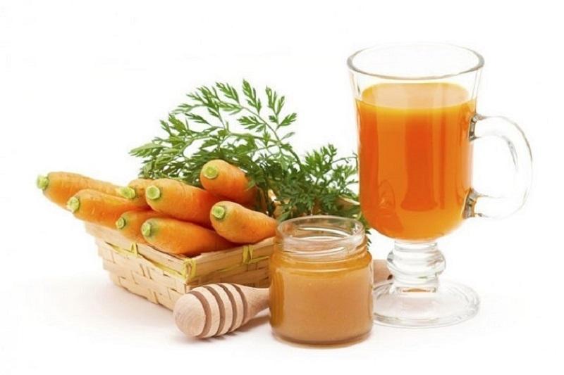 Kết hợp mật ong, trứng gà và cà rốt