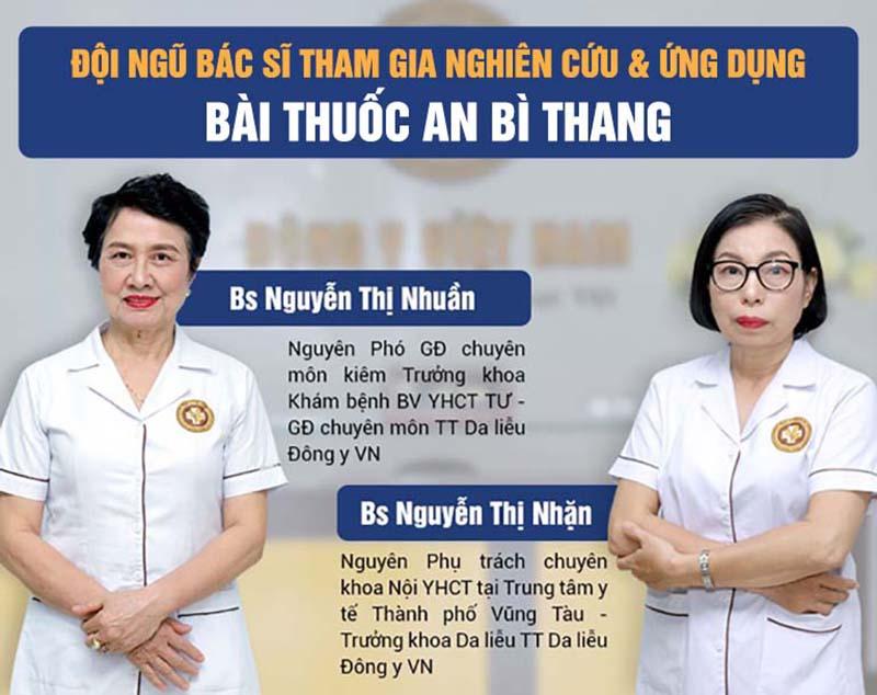 Đội ngũ chuyên gia giàu kinh nghiệm tham gia nghiên cứu bài thuốc An Bì Thang