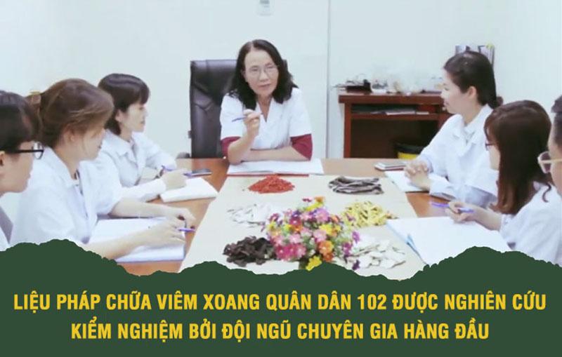 Đội ngũ chuyên gia Quân dân 102 nghiên cứu bài thuốc khoa học bài bản