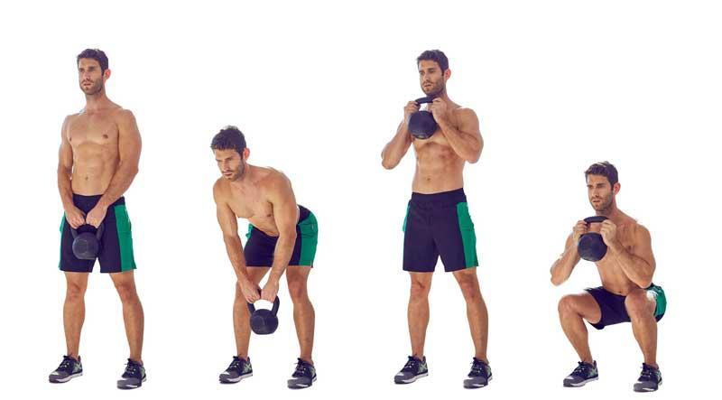 Squat tác động lên cơ chân, cơ hông, tăng cường sự dẻo dai cho phần dưới cơ thể