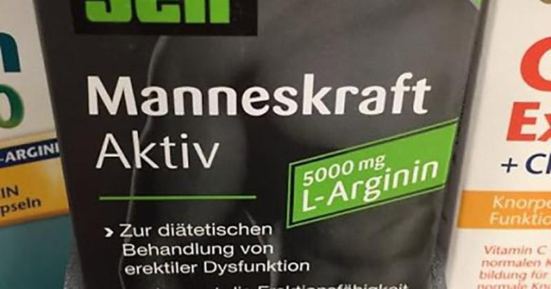 Trong Menself Manneskraft Aktiv có thành phần chính là L-Arginine