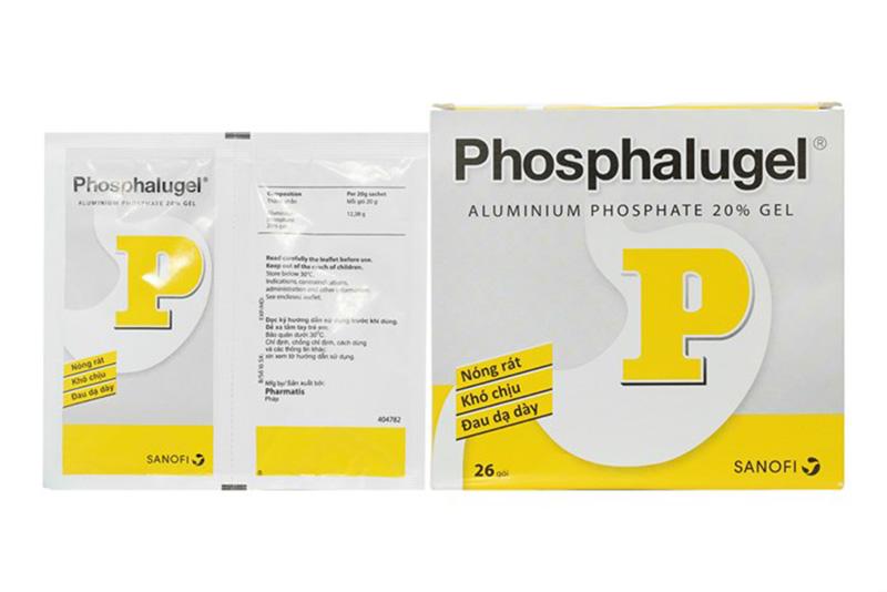Phosphalugel hay còn gọi là thuốc dạ dày chữ P thuộc nhóm kháng acid