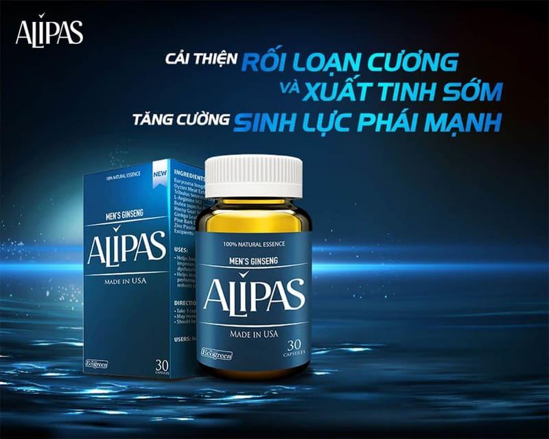 Bao bì sản phẩm Sâm Alipas