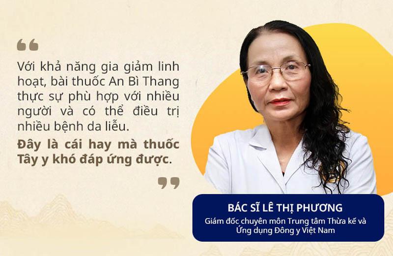 Thầy thuốc Ưu tú Lê Phương đánh giá cao khả năng điều trị của bài thuốc An Bì Thang