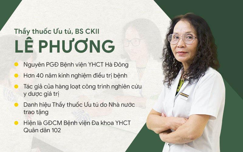 Thầy thuốc ưu tú, BSCKII Lê Phương là một trong những bác sĩ chữa viêm da cơ địa giỏi