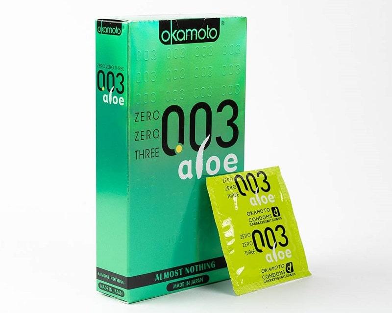 Okamoto 003 Aloe là sản phẩm có chiết xuất từ lô hội