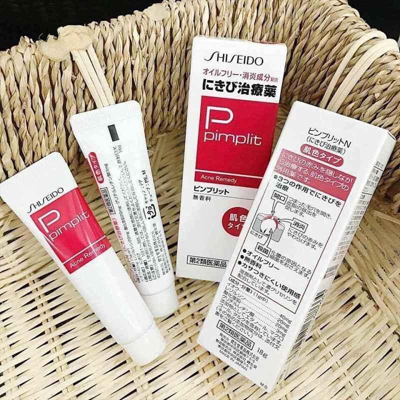 Loại bỏ mụn đầu đen với kem Shiseido Pimplit