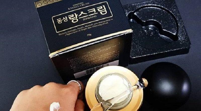 Kem trị nám Dongsung là sản phẩm dưỡng da vào ban đêm