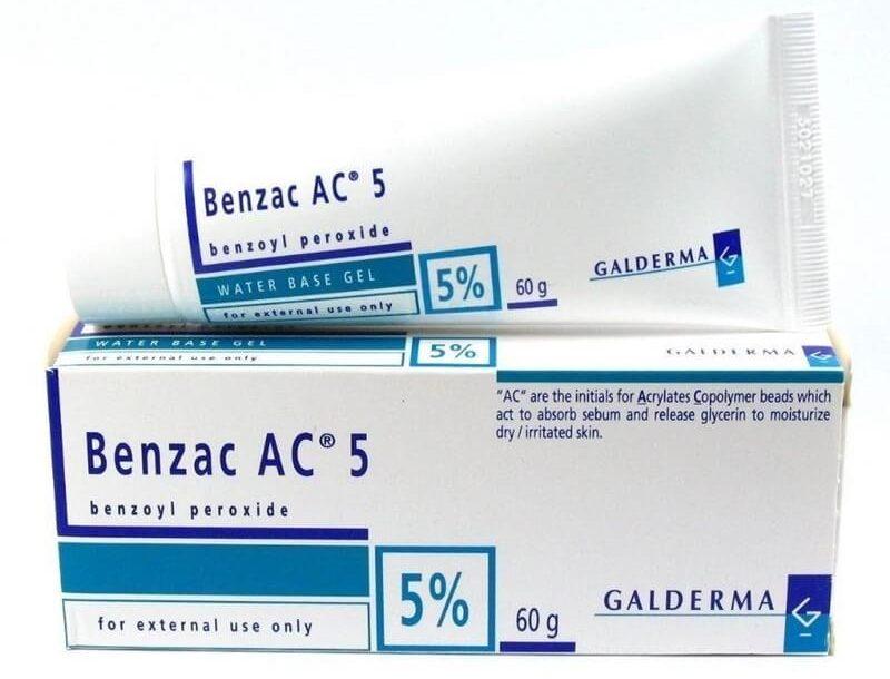 Thuốc Benzoyl peroxide có tính kháng khuẩn mạnh, hiệu quả với mọi loại mụn