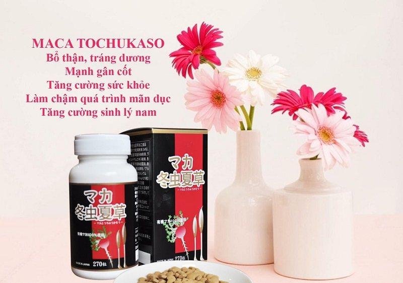 Thuốc Maca Tochukaso là sản phẩm tăng cường sức khỏe, chức năng sinh lý hiệu quả
