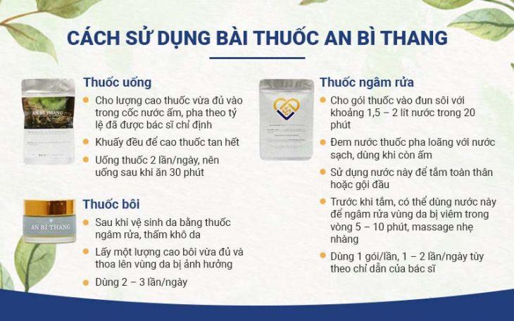 An Bì Thang có cách sử dụng tiện lợi