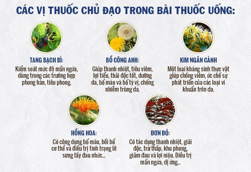 Một số dược liệu chủ chốt trong chế phẩm thuốc uống An Bì Thang