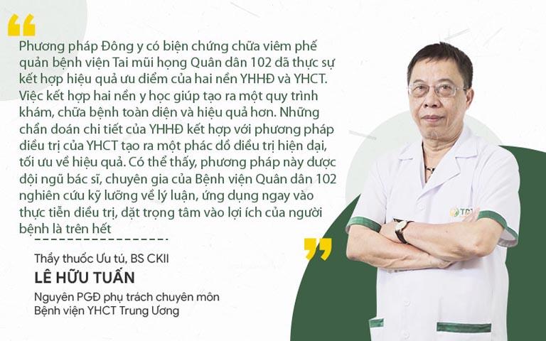 Bác sĩ Tuấn nhận xét phương pháp