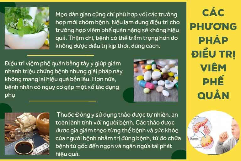 Các phương pháp điều trị viêm phế quản