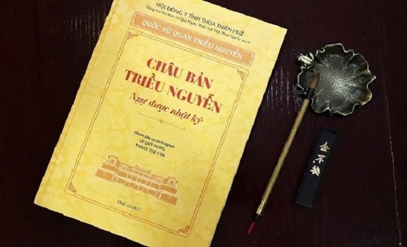 Cuốn sách Châu Bản triều Nguyễn - Ngự dược nhật ký