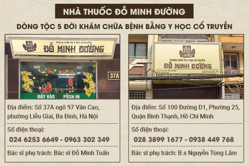 Nhà thuốc Đỗ Minh Đường là địa chỉ khám chữa bệnh uy tín