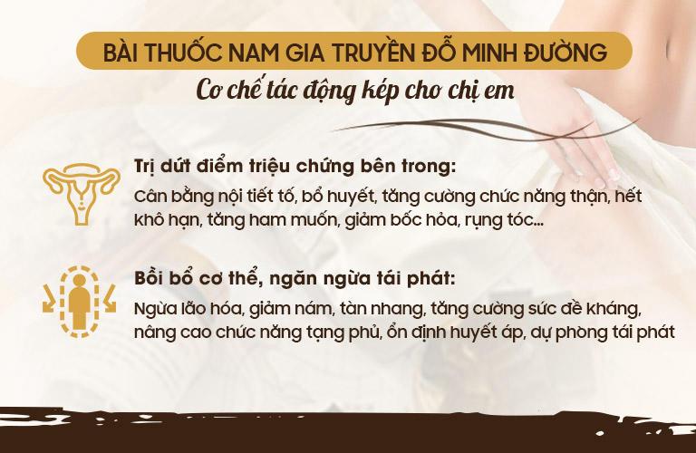 Hiệu quả cải thiện sinh lý nữ toàn diện của Nội tiết Đỗ Minh