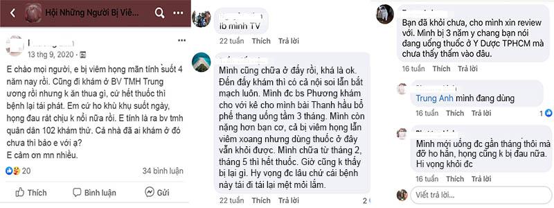 Người bệnh review về Thanh hầu bổ phế thang trên mạng xã hội