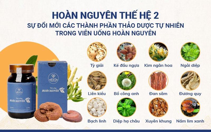 Các loại thảo dược có trong Bộ sản phẩm Mụn trứng cá Hoàn Nguyên