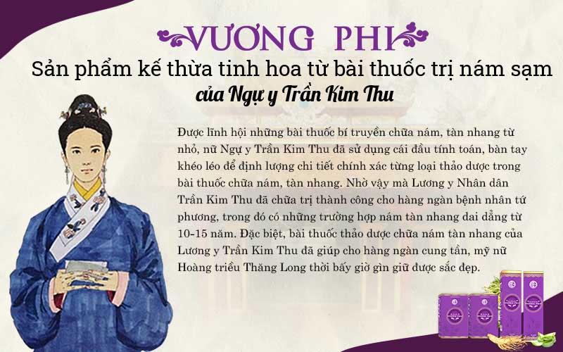 Bộ sản phẩm Vương Phi có tiền thân là bài thuốc dưỡng nhan của ngự y Trần Kim Thu
