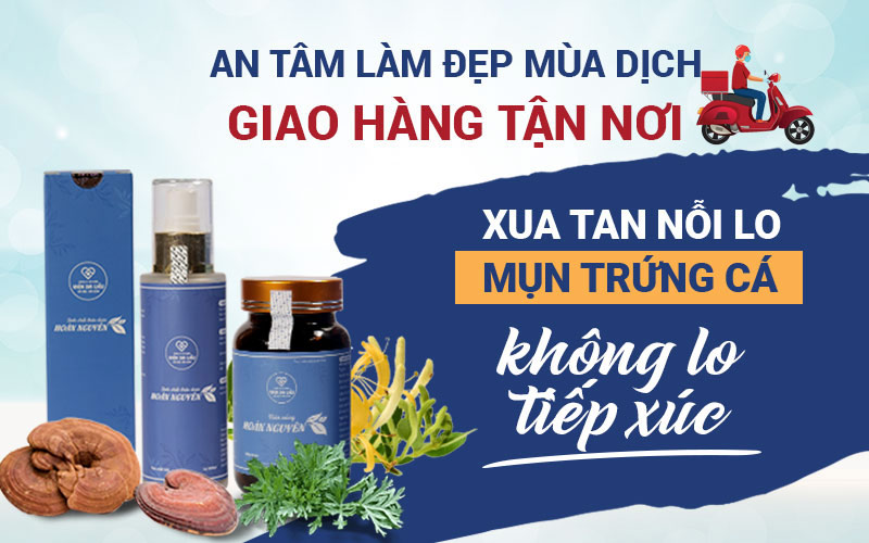Viện Da liễu Hà Nội - Sài Gòn chú trọng vào các dịch vụ tư vấn trực tuyến và giao hàng tận nhà
