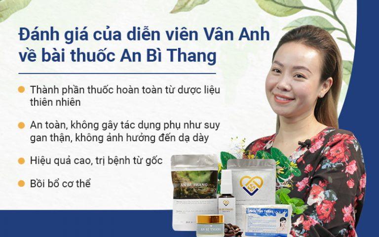 Diễn viên Vân Anh đã điều tị khỏi viêm da tiếp xúc