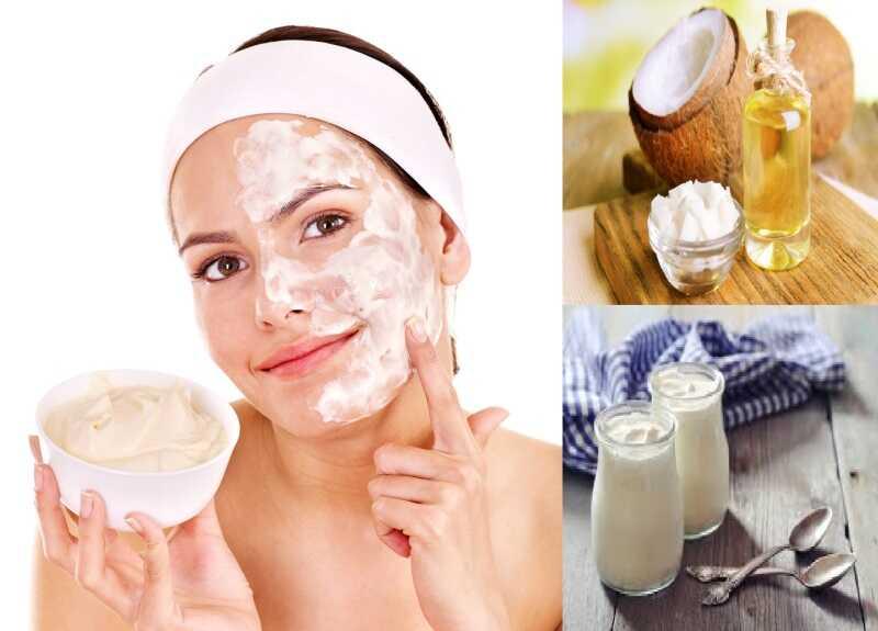 Cách trị tàn nhang bằng dầu dừa và sữa chua không đường sẽ cải thiện tình trạng da không đều màu