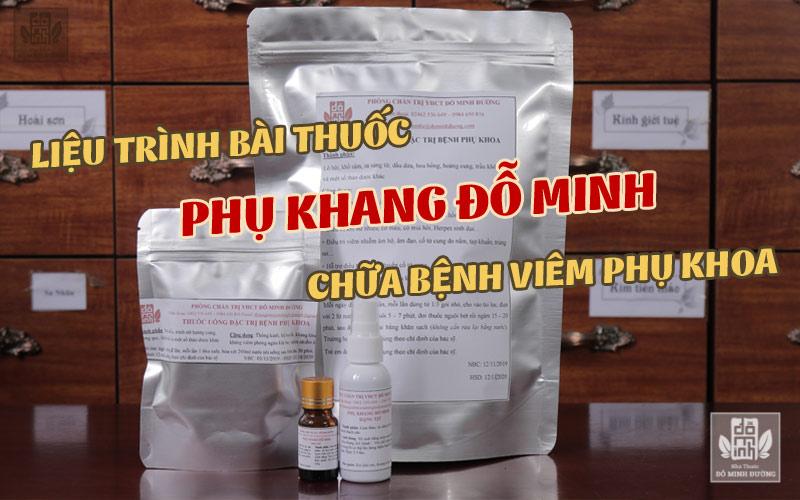 Liệu trình bài thuốc Phụ Khang Đỗ Minh của nhà thuốc Đỗ Minh Đường