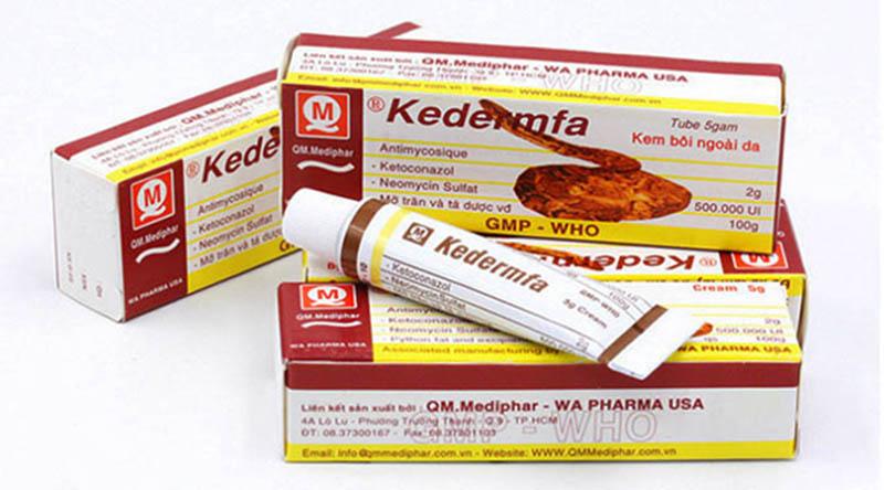 Thuốc bôi da trị lác đồng tiền Kedermfa được nhiều người đánh giá cao