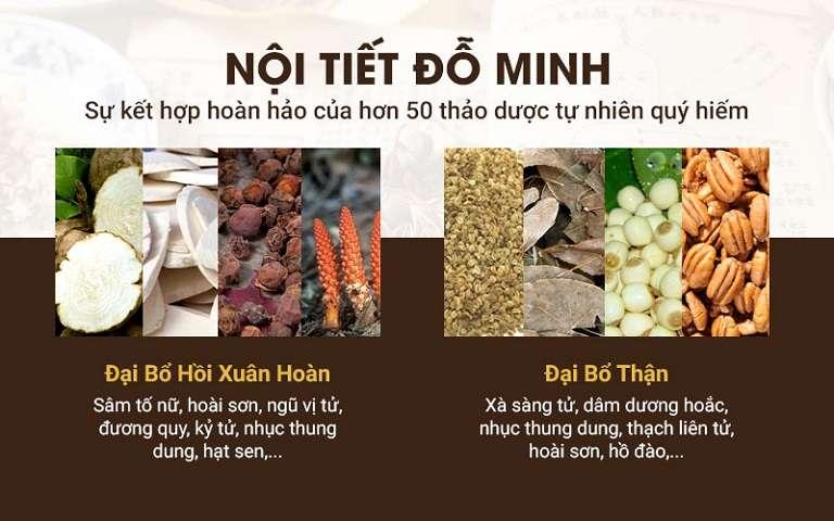 Bài thuốc Nội tiết Đỗ Minh là sự kết hợp hoàn hảo hơn 50 loại thảo dược quý từ tự nhiên