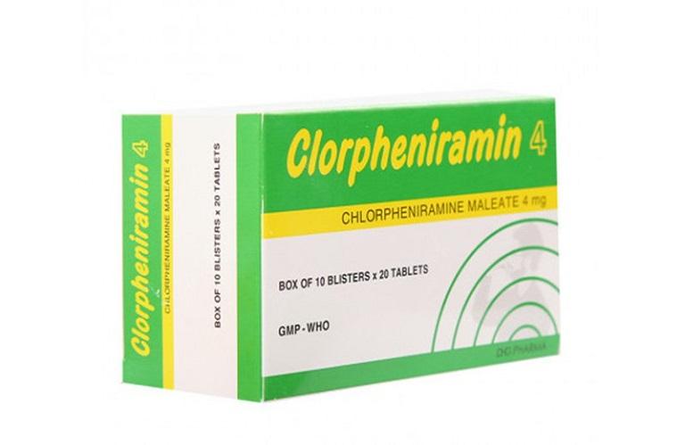 Trị mề đay mẩn ngứa bằng thuốc Clorpheniramin
