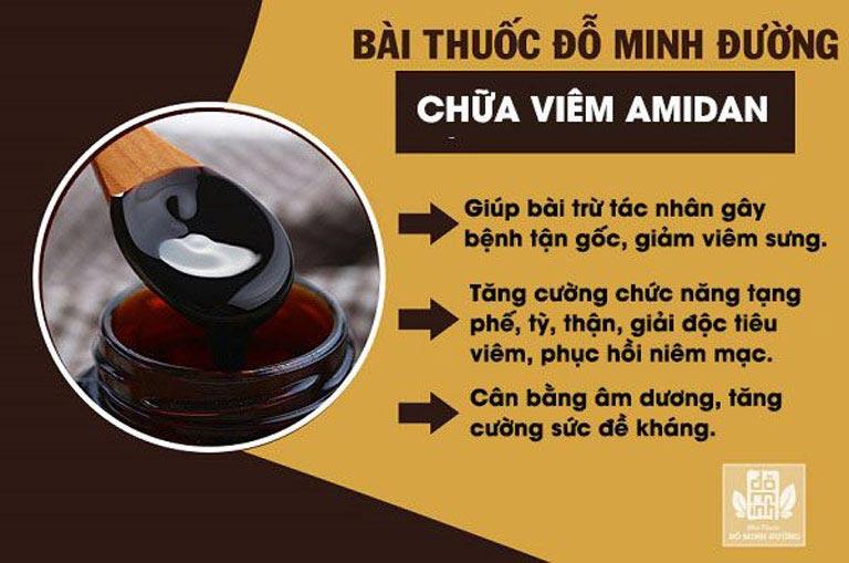 Tác dụng bài thuốc viêm amidan Đỗ Minh