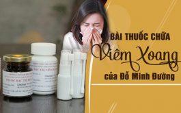 Bài thuốc viêm xoang Đỗ Minh Đường ra đời cách đây 150 năm