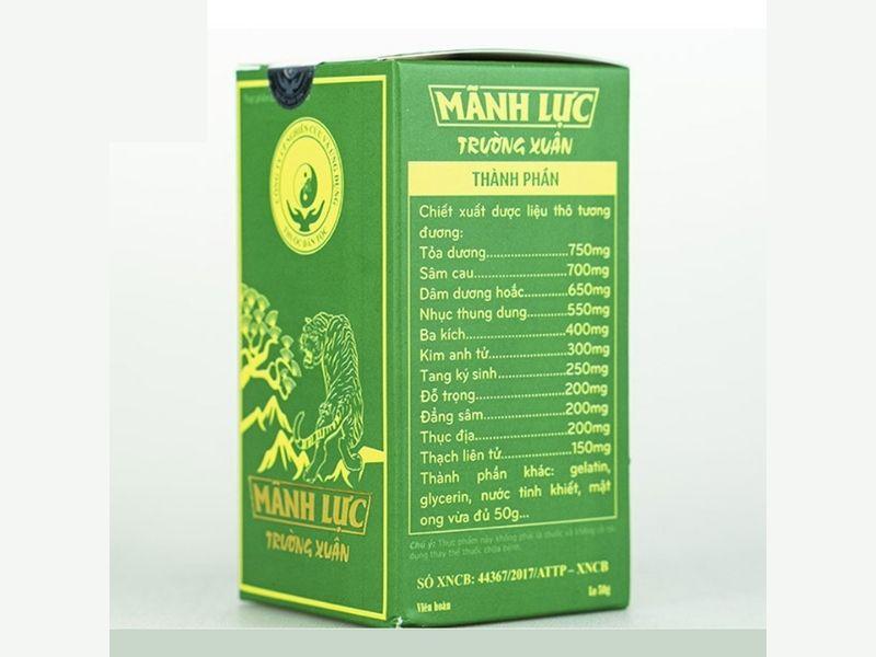 Sản phẩm được chiết xuất từ hơn 30 loại thảo dược quý hiếm