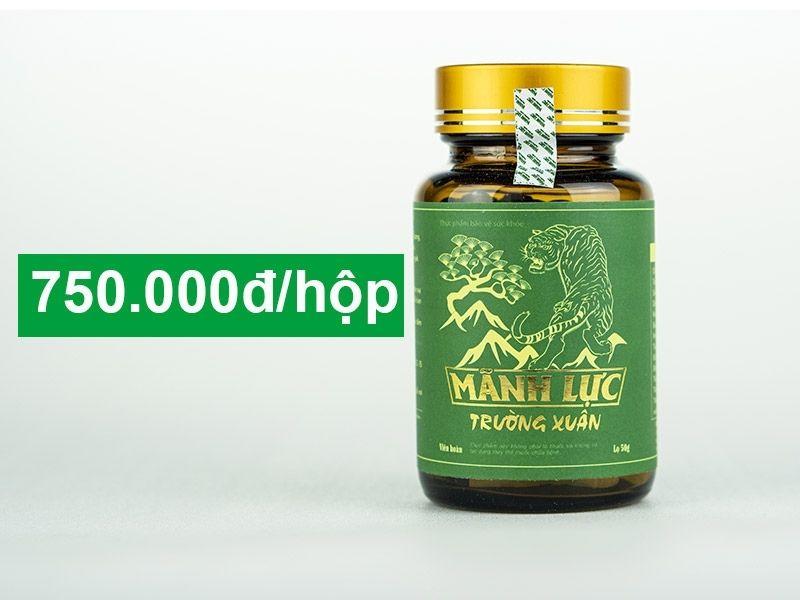 Hiện viên uống đươc bán với giá là 750.000 VNĐ/ lọ 50g