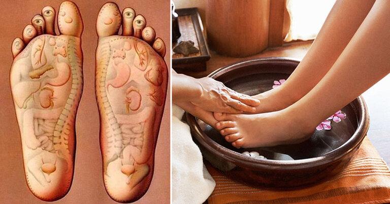 Ngâm chân với nước ấm giúp giảm chứng mất ngủ cho người lớn tuổi