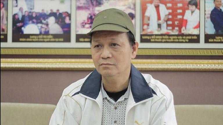 Chú Khôi đến nhà thuốc nam Đỗ Minh Đường tái khám bệnh viêm amidan
