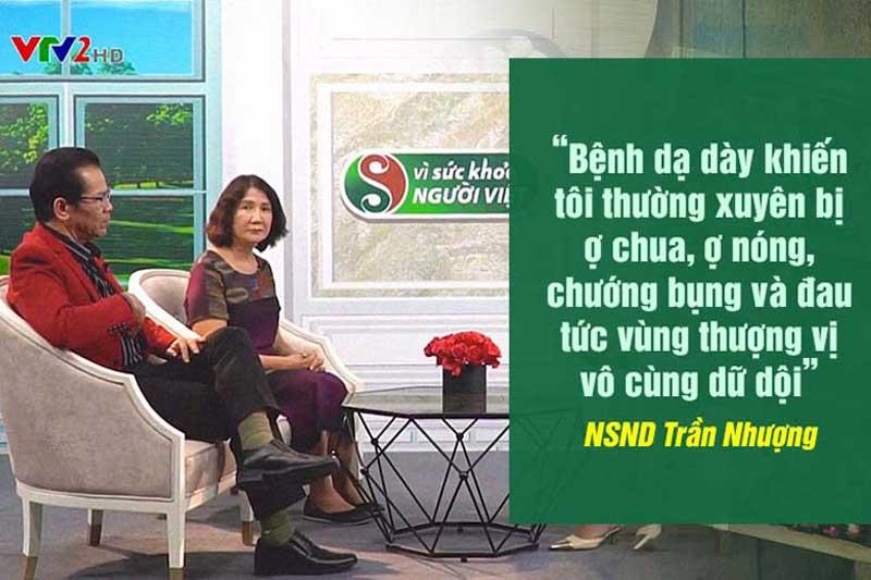 NS Trần Nhượng chia sẻ tại chương trình Vì sức khỏe người Việt của VTV2